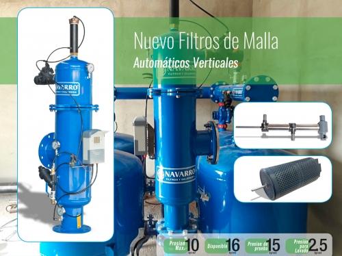 Navarro Filtros y Calderería, Filtro de Malla vertical